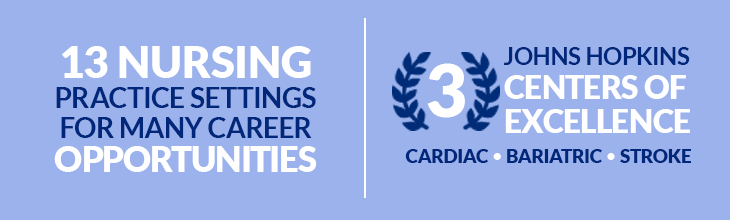 13 Nursing Practice Settings for Many Career Opportunities | 3 Johns Hopkins Centers of Excellence - Cardiac, Bariatric, Stroke